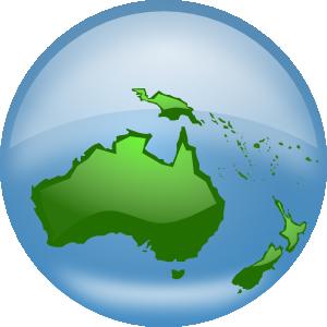 Oceania globe clip art. Australia clipart earth