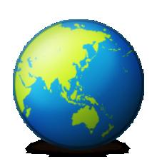 Australia clipart earth. Ios emoji globe asia