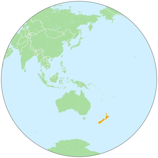 New zealand on globe. Australia clipart earth
