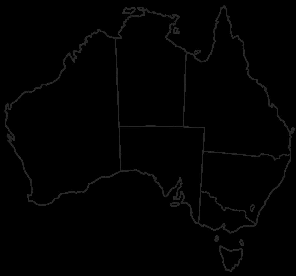 Australia Map Simple.Australia Clipart Easy Australia Easy Transparent Free For Download