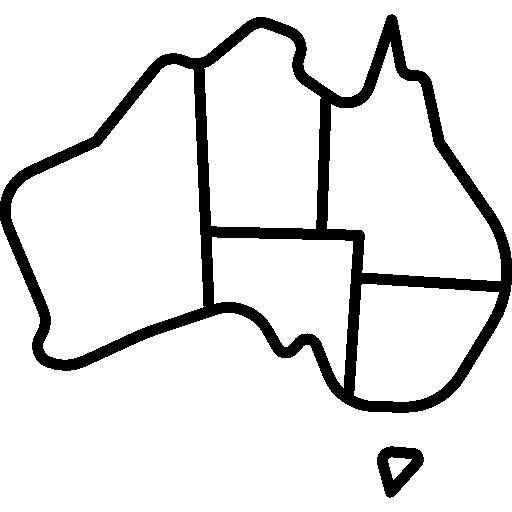 Simple Australia Map Outline.Australia Clipart Easy Australia Easy Transparent Free For