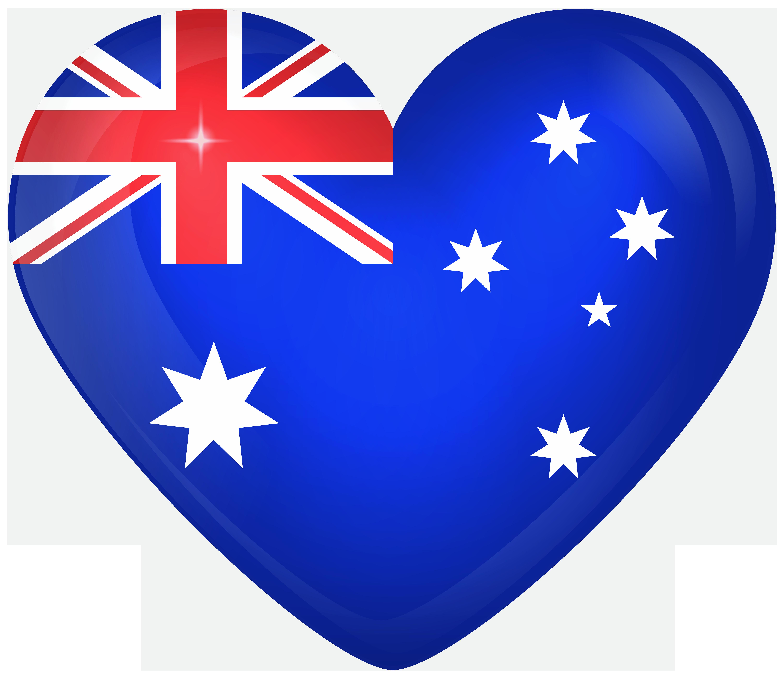 Heart clipart flag. Australia large gallery yopriceville