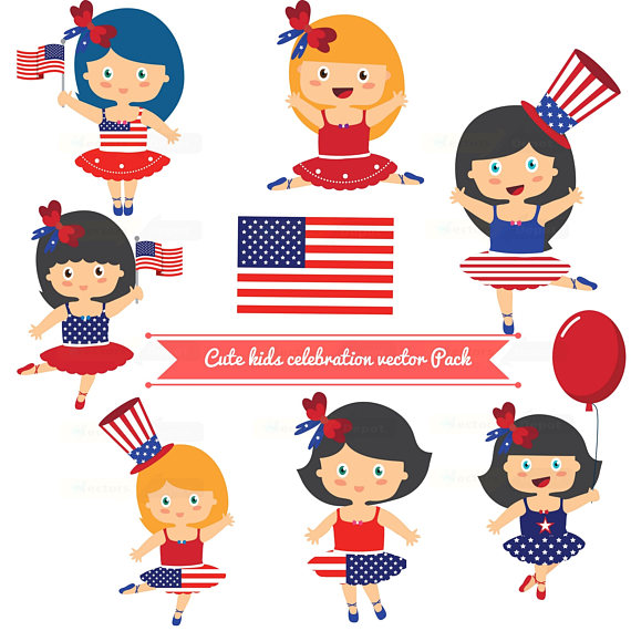 Australia clipart independence. Day clipartlovely girls dayjuly