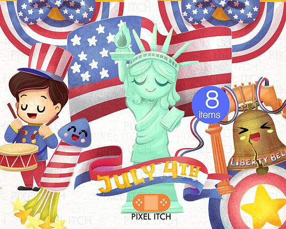 Day th of july. Australia clipart independence