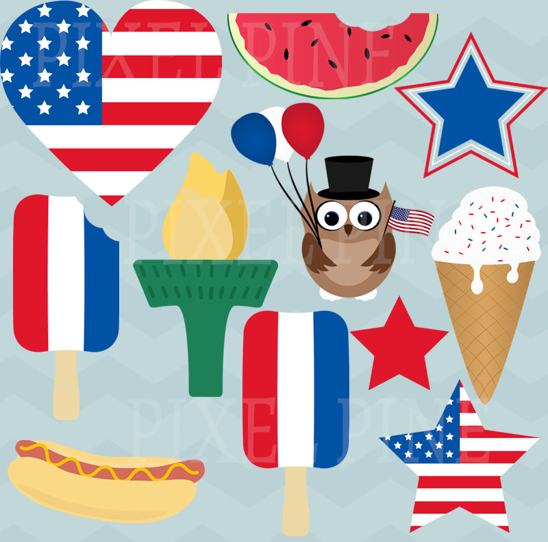 Australia clipart independence.  th july set
