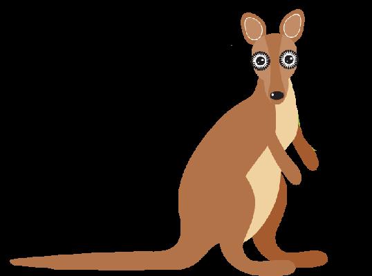 Animals of the arts. Australia clipart kangaroo