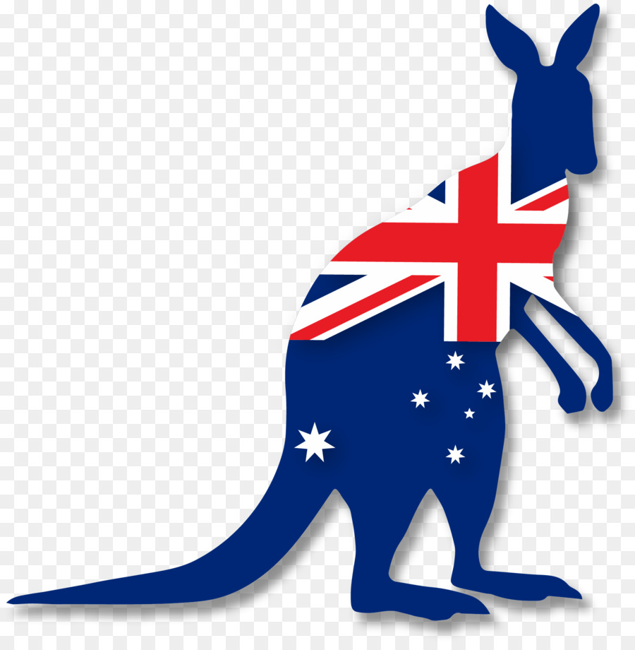 Flag of australian federation. Australia clipart kangaroo