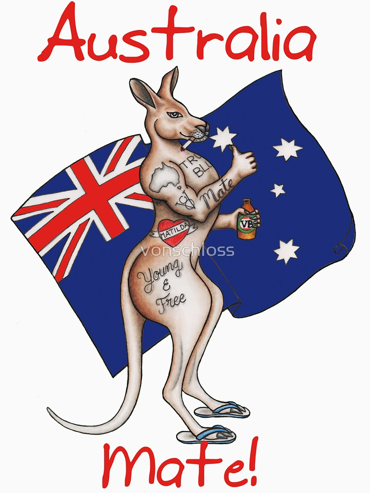 Australia clipart kangaroo. Day tattoo with flag