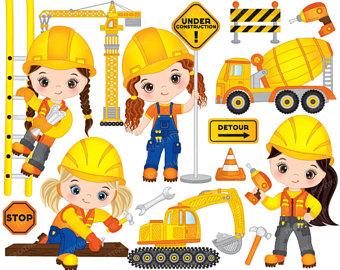 Construction boys vector girls. Australia clipart kid