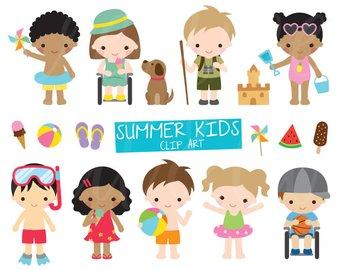 Australia clipart kid. Kids etsy summer activities