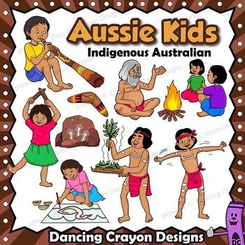 Kids clip art indigenous. Australia clipart kid