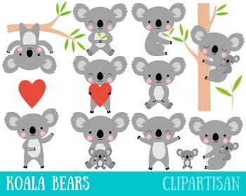 Koala clipart koala australian. Koalas clip art bear