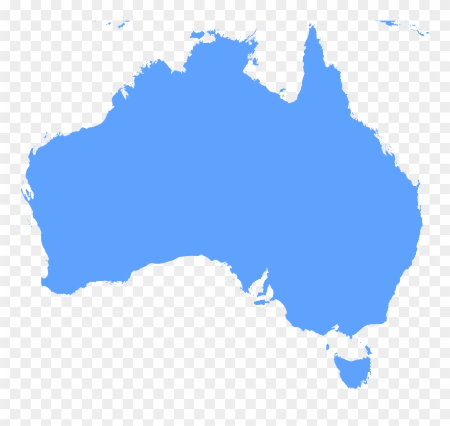 Australia clipart line. Continent outline map with