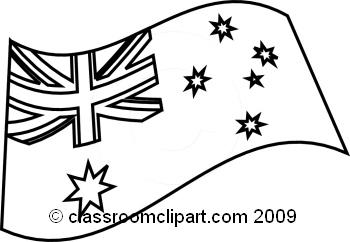 World flags flag bw. Australia clipart line