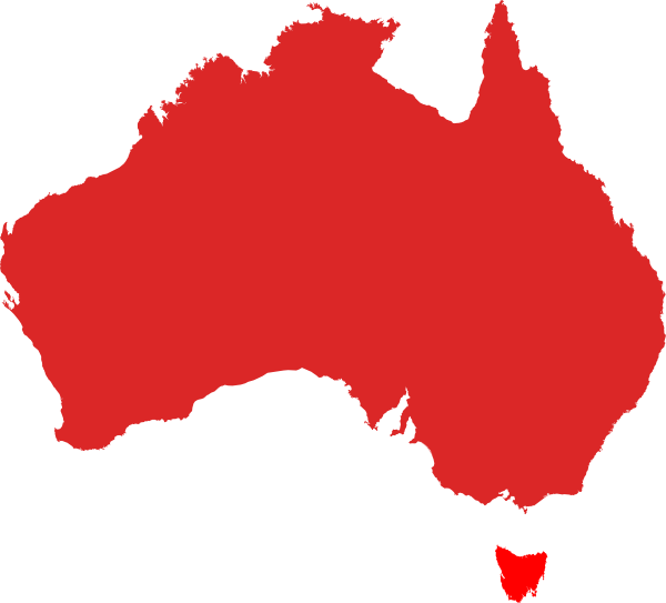 Australia clipart map. Red clip art at