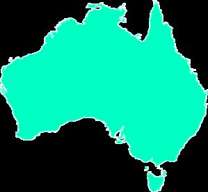 Australia clipart map. Aqua clip art at