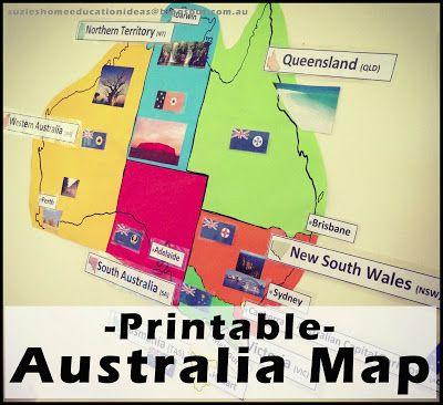 Map printable capital city. Australia clipart name