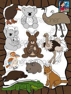 Australian animal tags top. Australia clipart name
