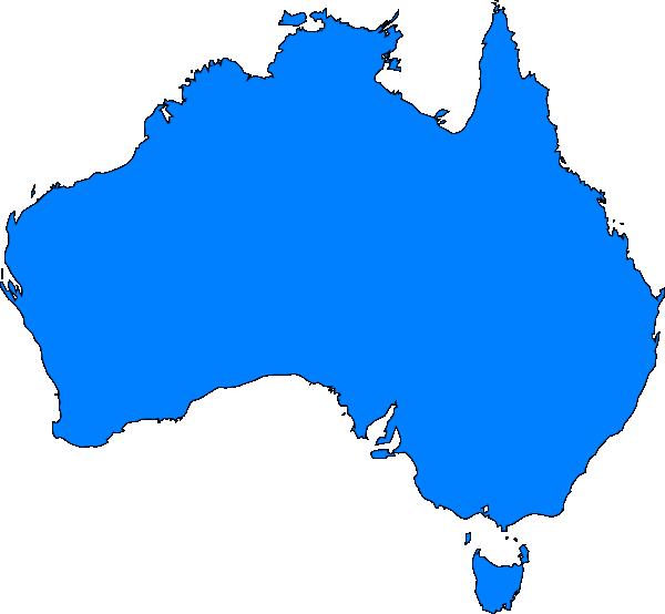 Map australia clip art. Maps clipart blue