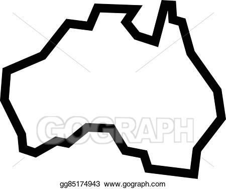 Vector illustration map geography. Australia clipart shape