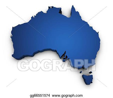 Australia clipart shape. Stock illustration map of