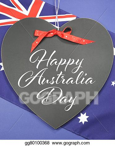 Stock illustration happy day. Australia clipart shape