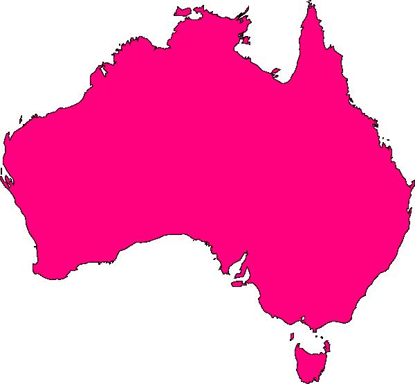 Pink clip art at. Australia clipart shape