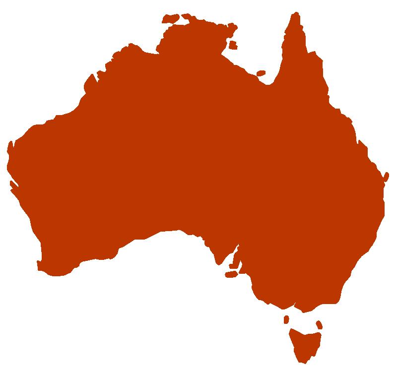 Australia clipart silhouette. Of rooweb