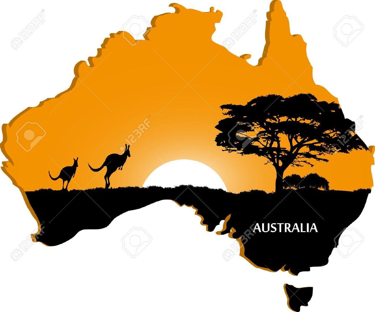 Australia clipart silhouette. Australian continent royalty free