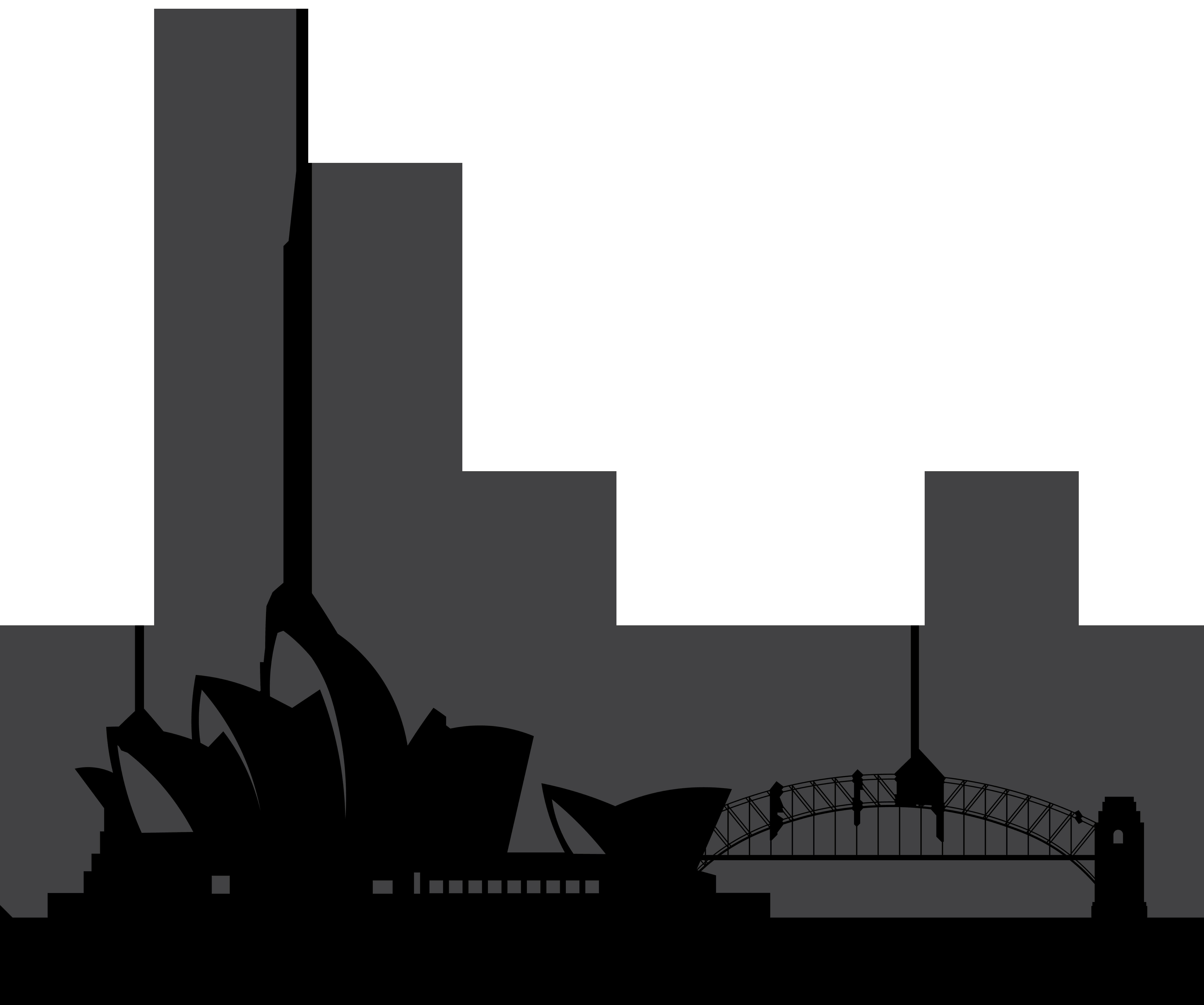 City clipart metropolitan area. Sydney australia silhouette png