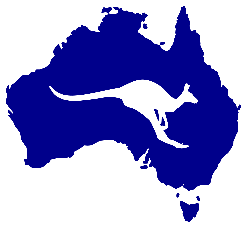 With kangaroo rooweb. Australia clipart silhouette