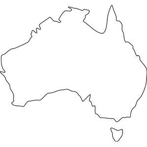 collection of outline. Australia clipart simple