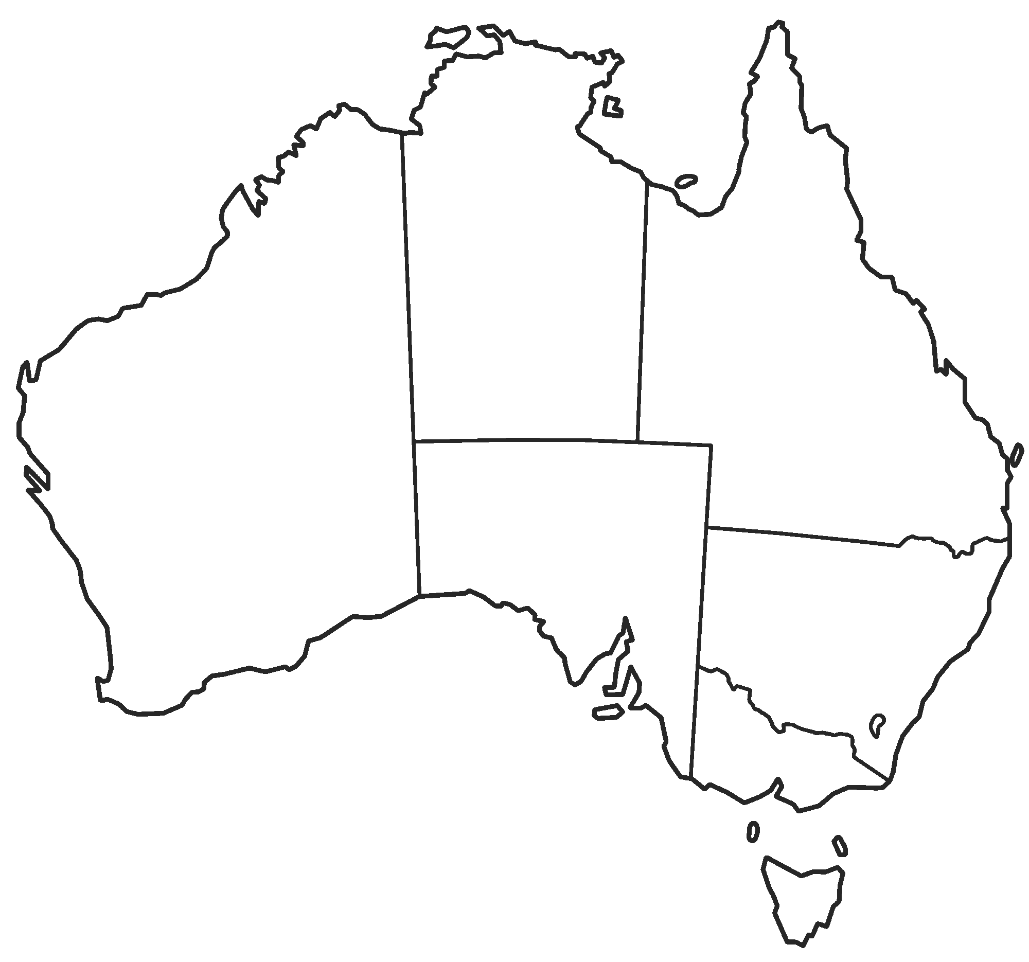 Australia clipart simple. Outline within map noavg
