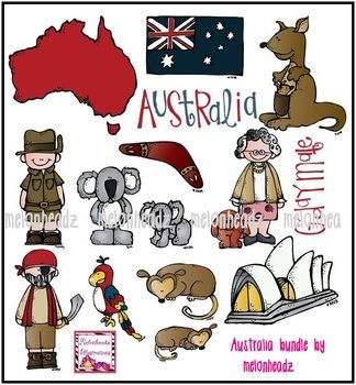Clip art by melonheadz. Australia clipart text