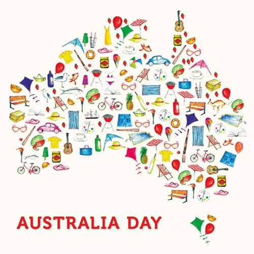 Australia clipart text. Day