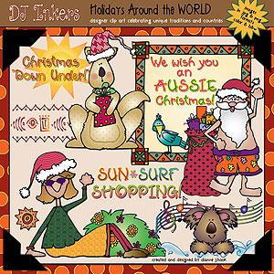 Australia clipart text. Christmas clip art printables