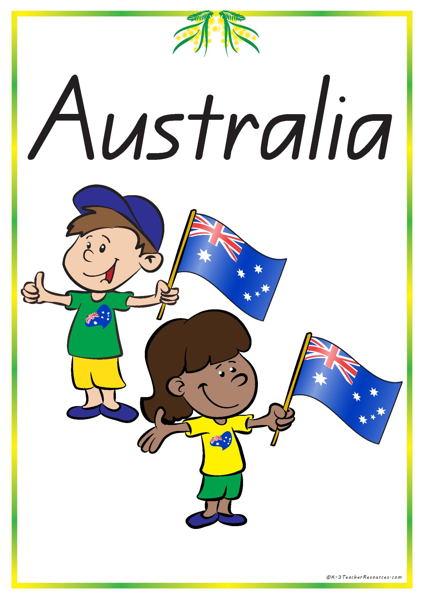 Australia clipart text.  vocabulary words