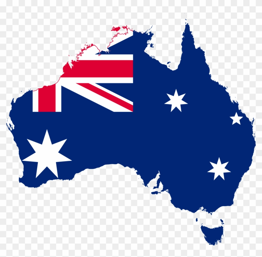 Australia clipart transparent background. Map flag australian on
