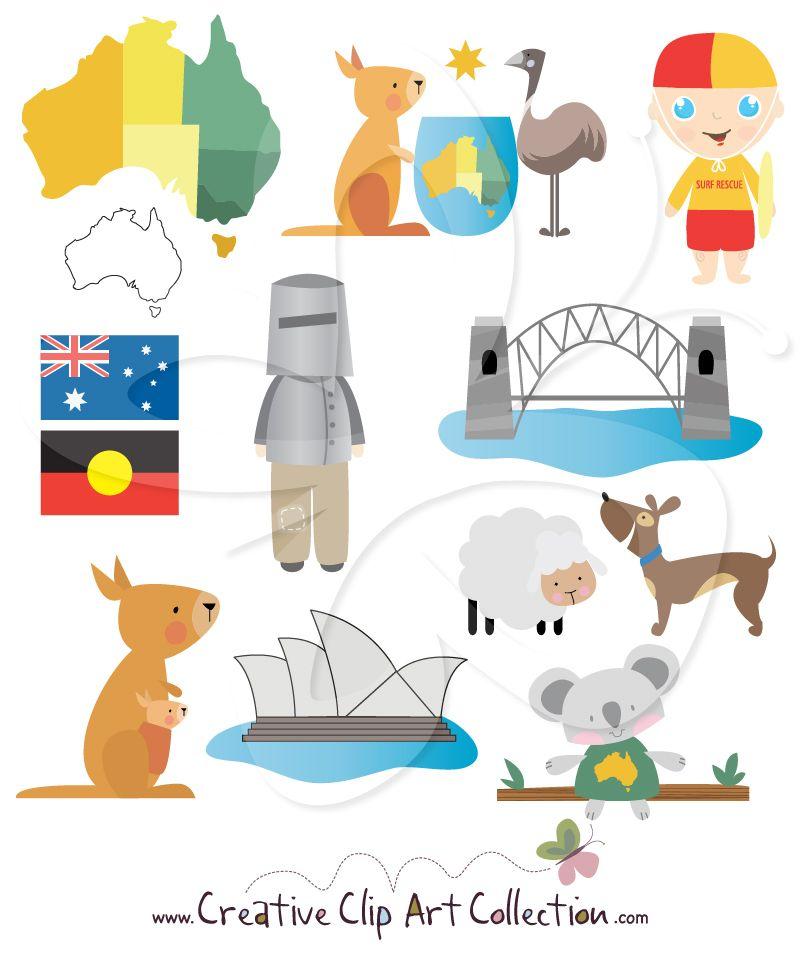 A cute clip art. Australia clipart writing