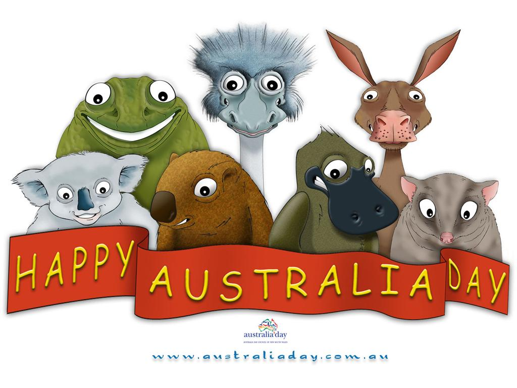 Australia clipart writing. Day the avery bunch