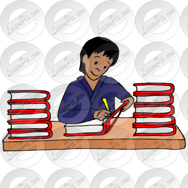 Author clipart. Picture for classroom therapy