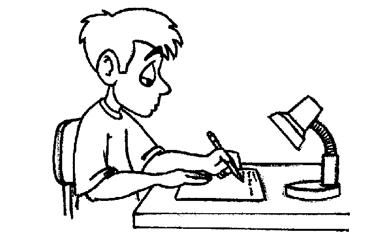 Writing Clip Art Black And White