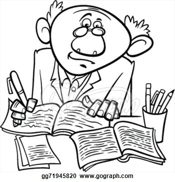 Author clipart black and white. Writer group clip art