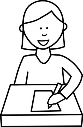 collection of writing. Author clipart black and white