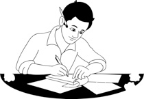 collection of writer. Author clipart black and white