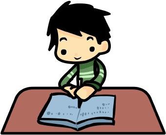 Handwriting clipart homework. Free child writing download