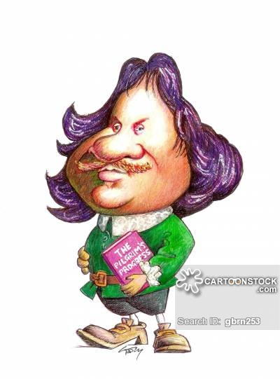 Author clipart cartoon. John bunyan cartoons and