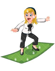 Author clipart cartoon. Worried business woman meeting