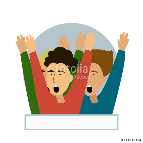 Author clipart cartoon. Cheering crowd of football