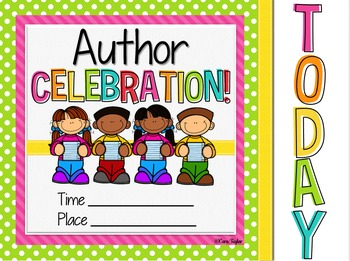 Publishing party by cara. Author clipart celebration